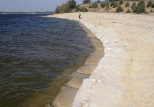 Bolsas para control de erosión costera y fluvial
